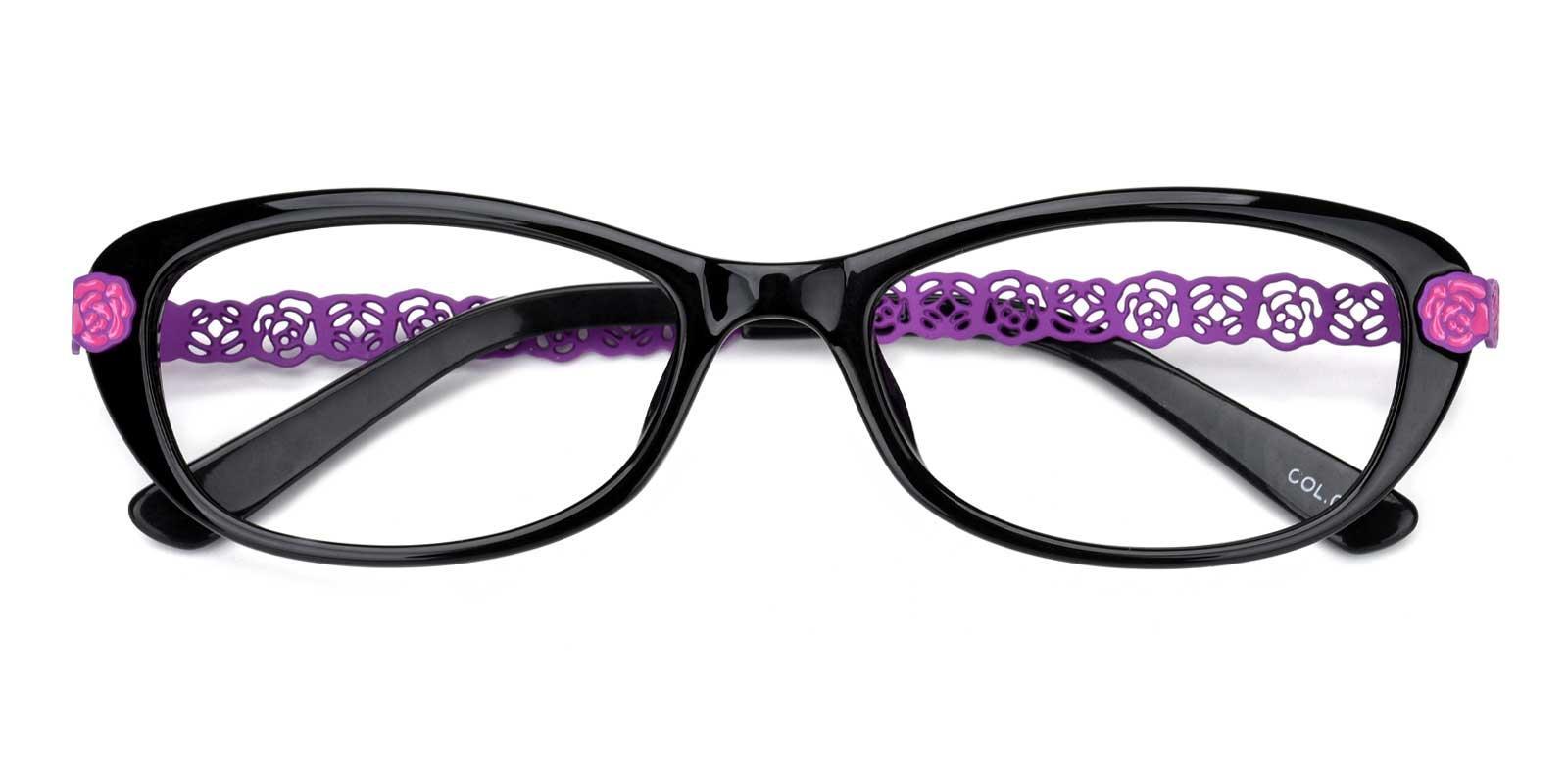 Iris-Black-Rectangle-TR-Eyeglasses-detail