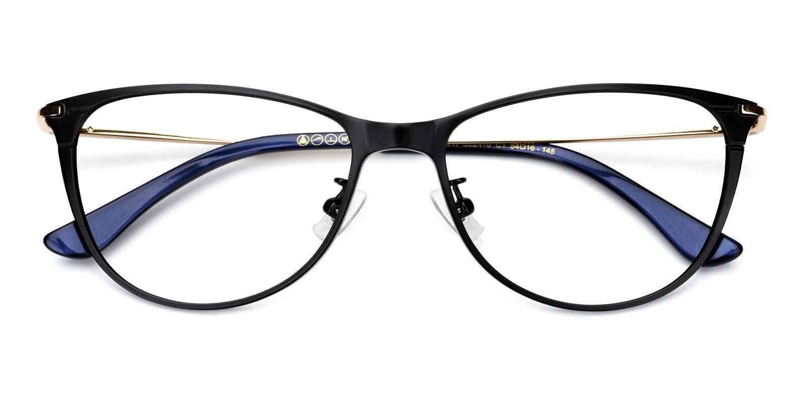 Carter-Black-Cat-Titanium-Eyeglasses-detail