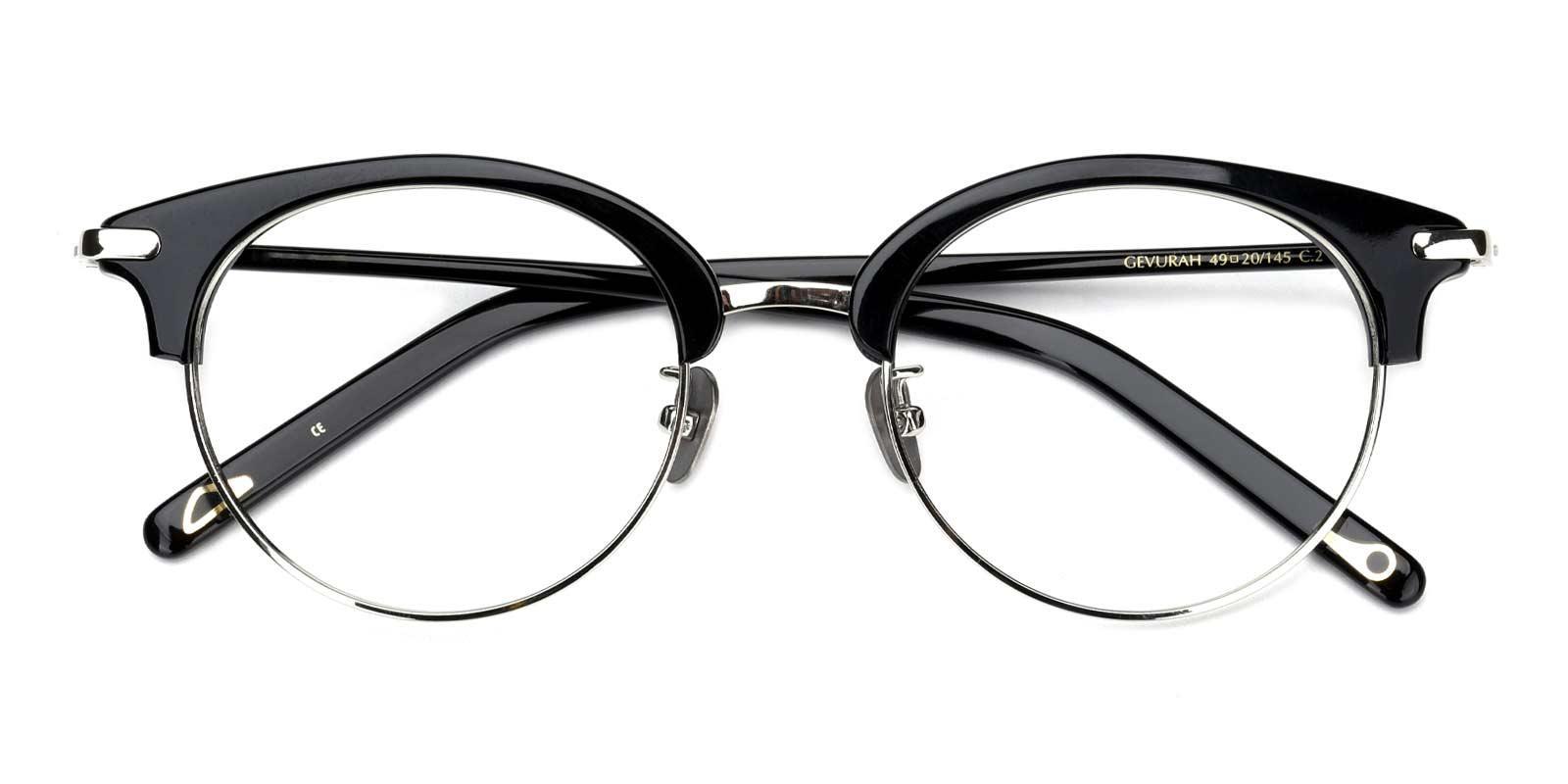 Jodie-Black-Browline-Titanium-Eyeglasses-detail