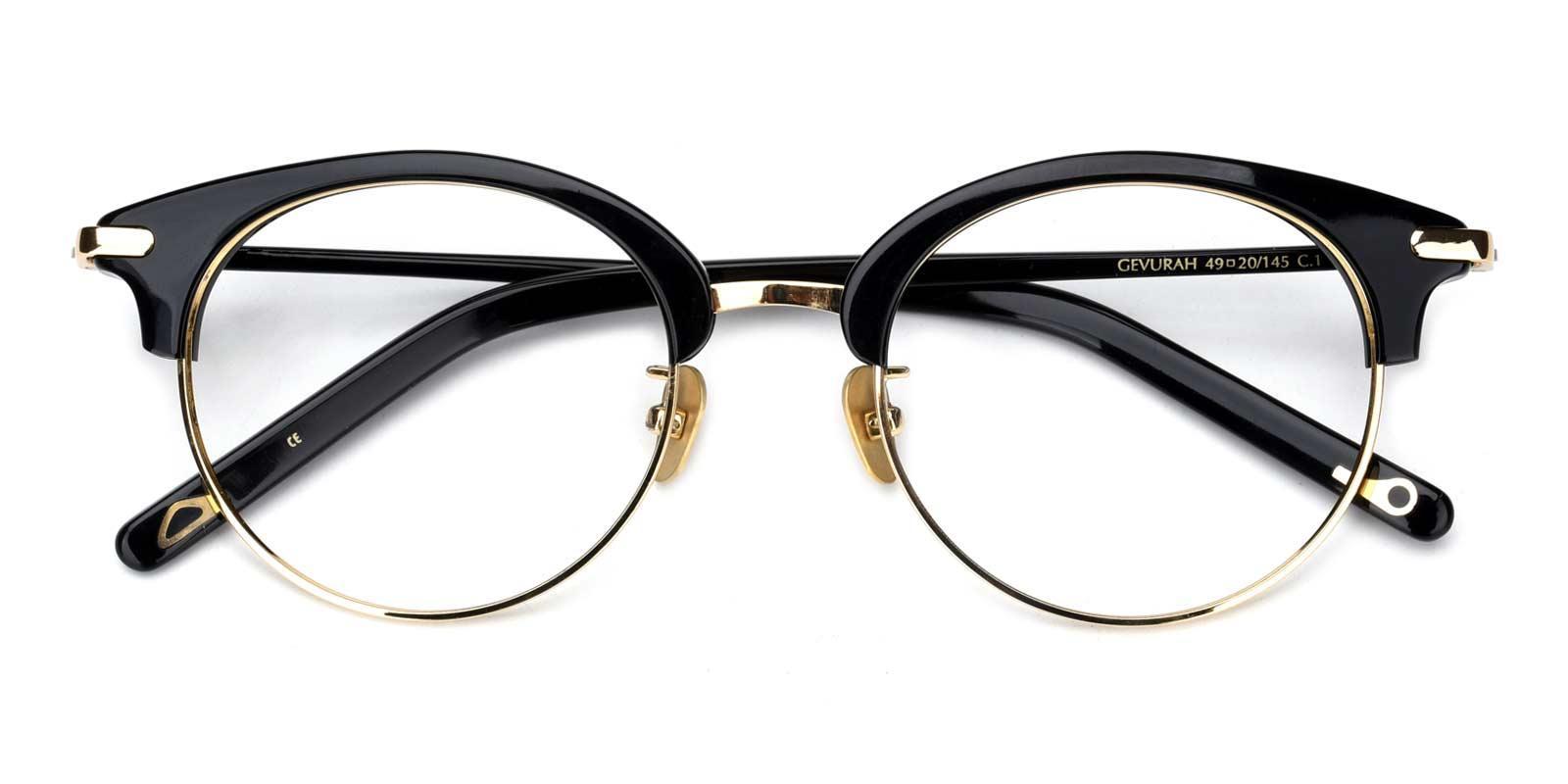 Jodie-Gold-Browline-Titanium-Eyeglasses-detail