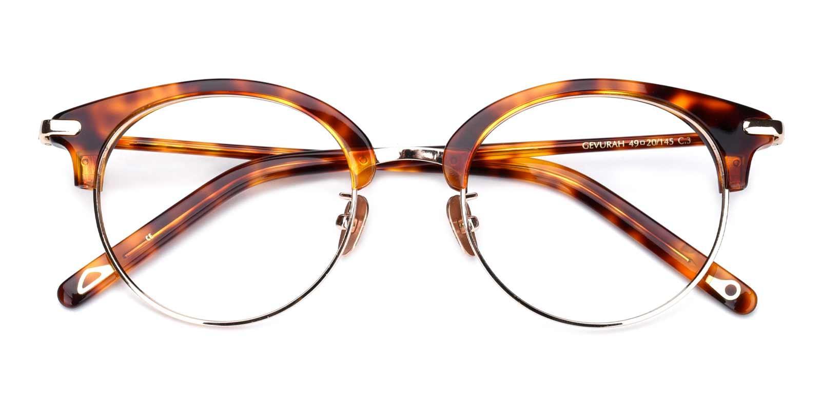 Jodie-Tortoise-Browline-Titanium-Eyeglasses-detail