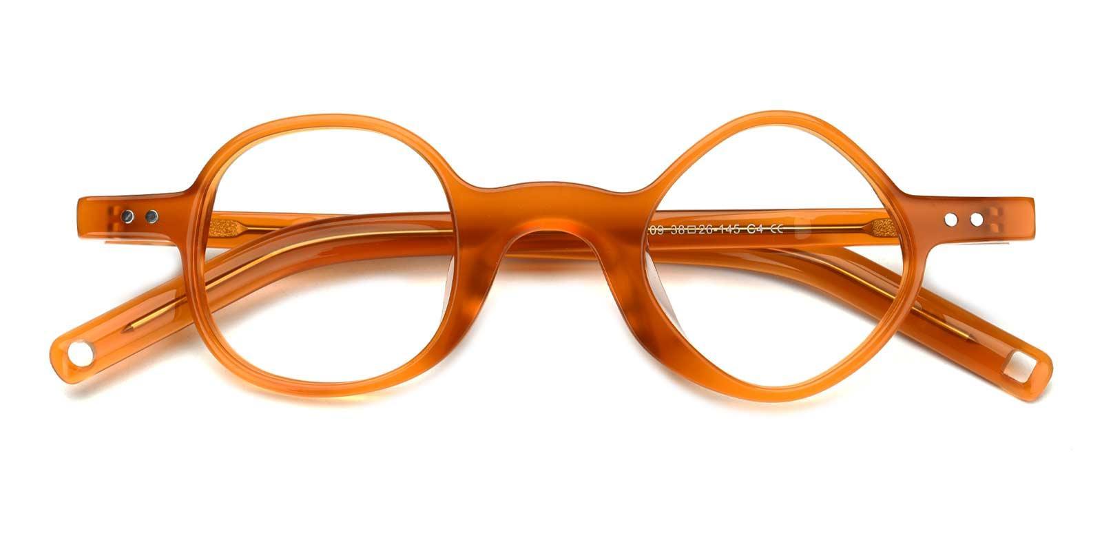 Ryan-Orange-Geometric-TR-Eyeglasses-detail