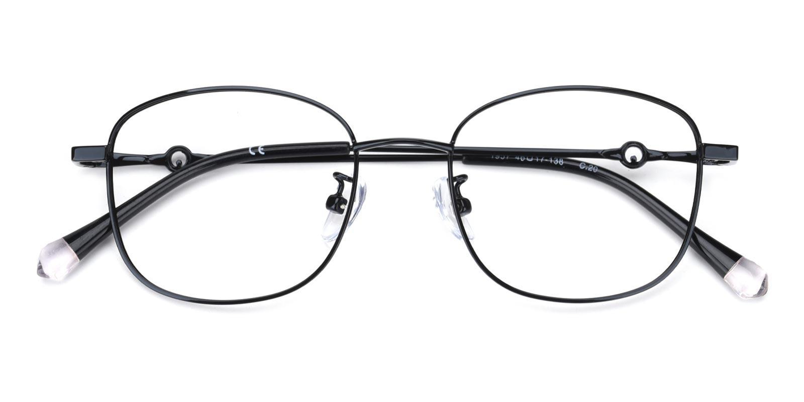 Olga-Black-Rectangle-Metal-Eyeglasses-detail