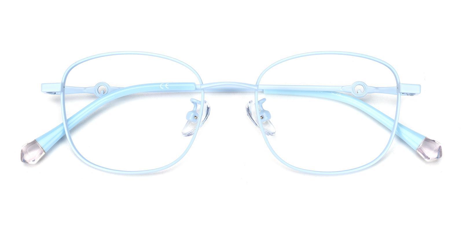 Olga-Blue-Rectangle-Metal-Eyeglasses-detail