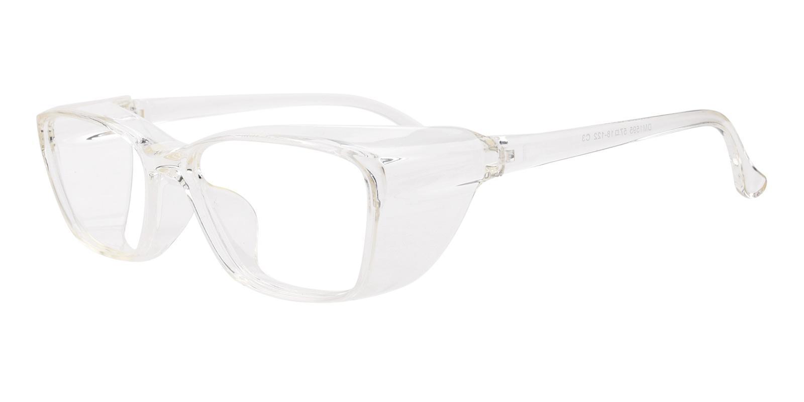 Protective Glasses-Translucent-Rectangle-TR-Eyeglasses-detail
