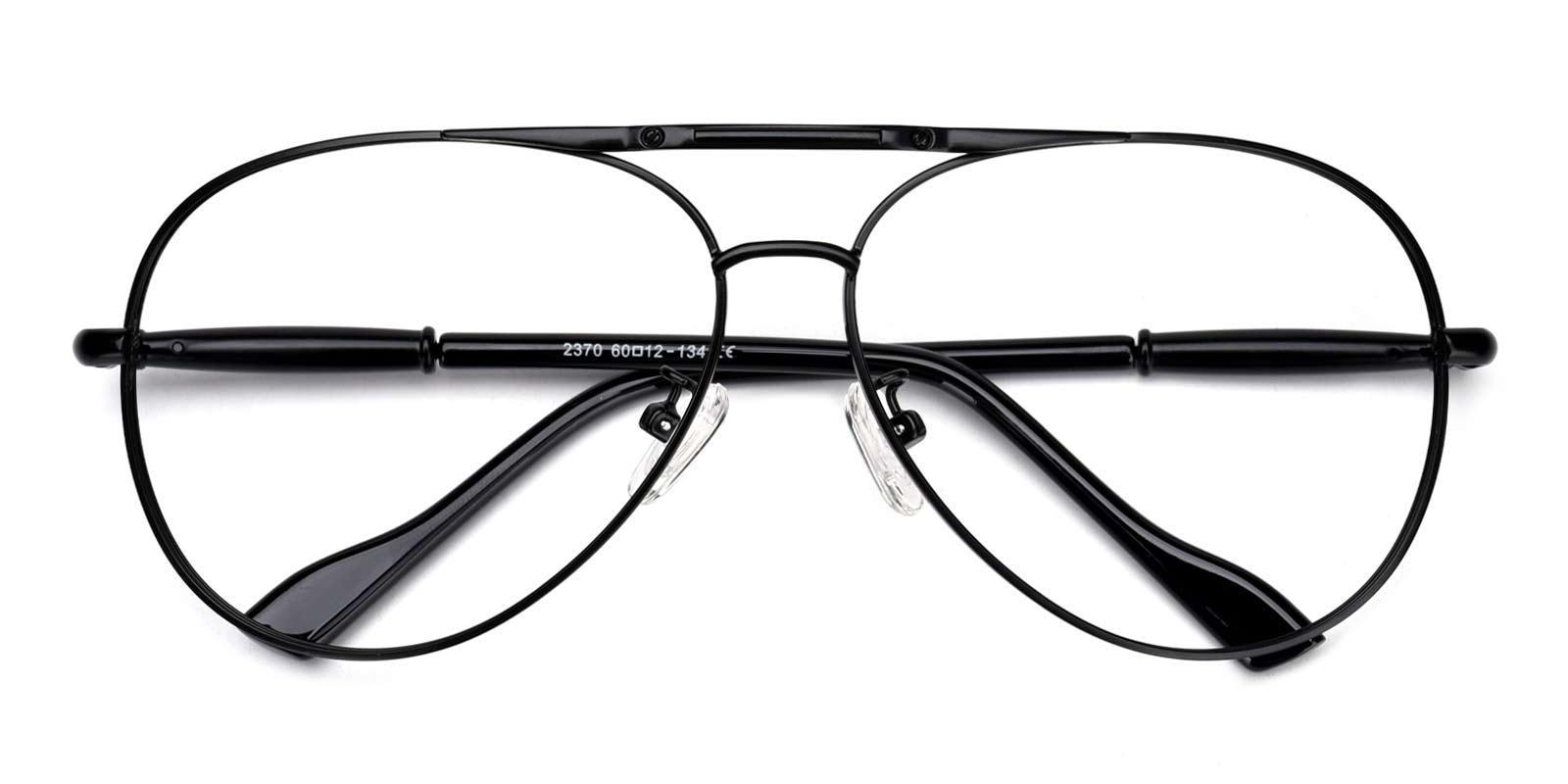 Riva-Black-Aviator-Metal-Eyeglasses-detail