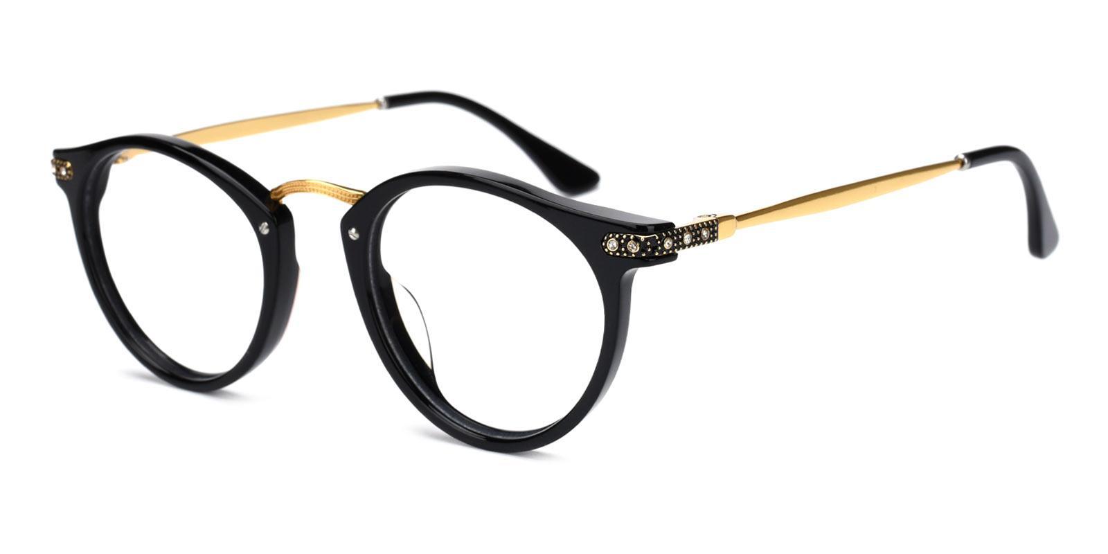 Donna-Black-Round-Acetate-Eyeglasses-additional1