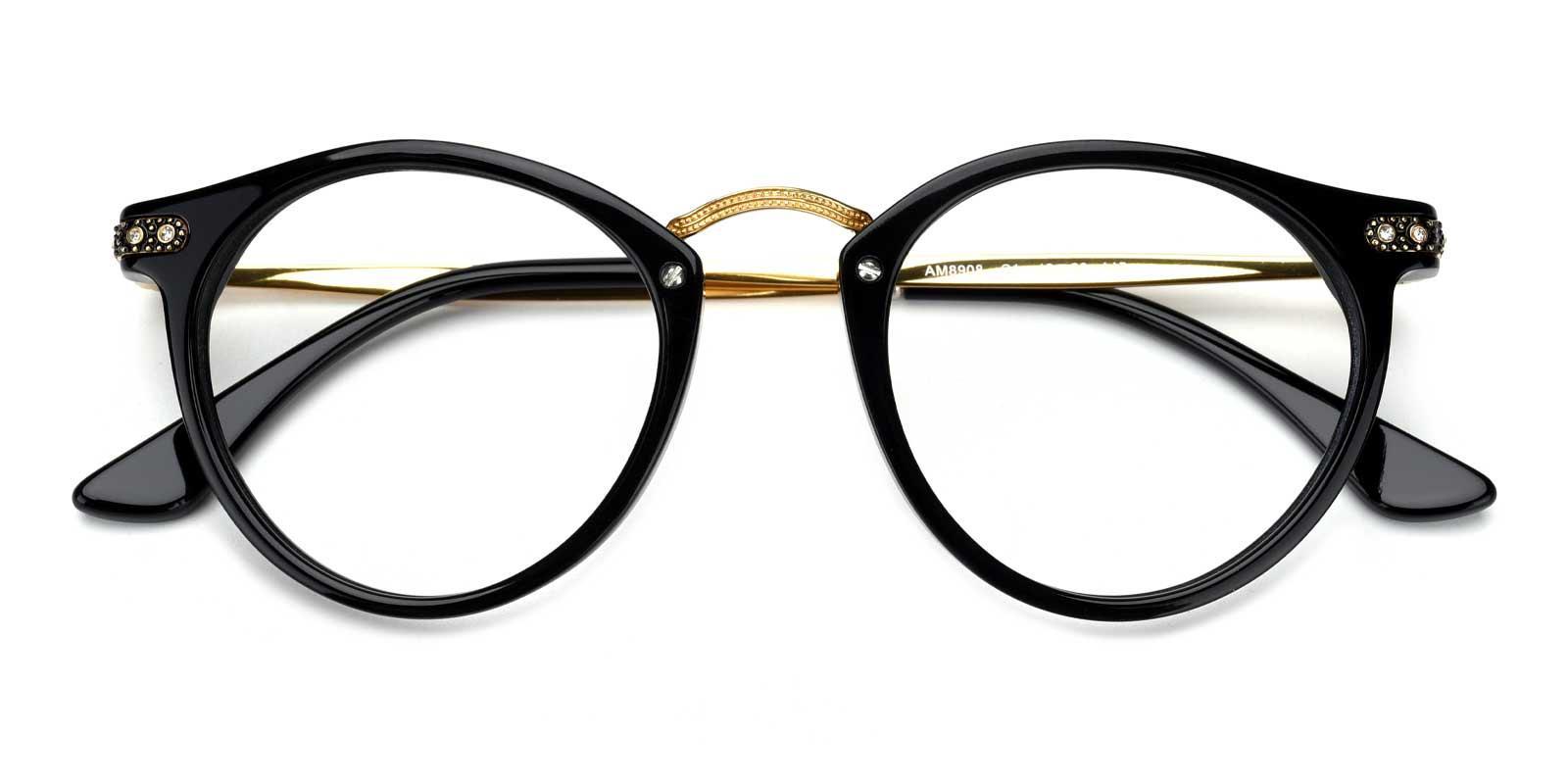 Donna-Black-Round-Acetate-Eyeglasses-detail
