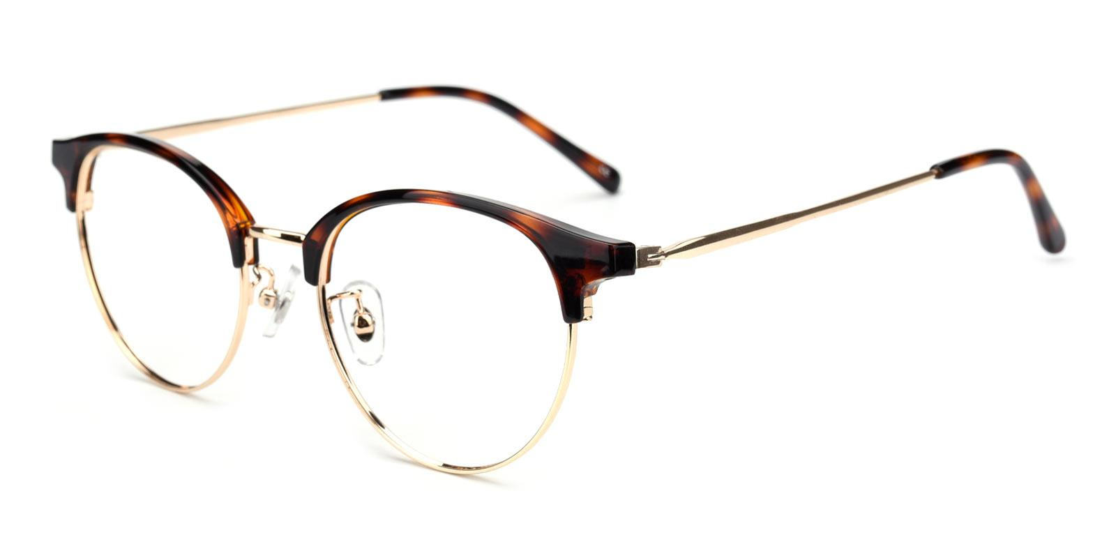 Gaze-Tortoise-Browline-Metal-Eyeglasses-additional1