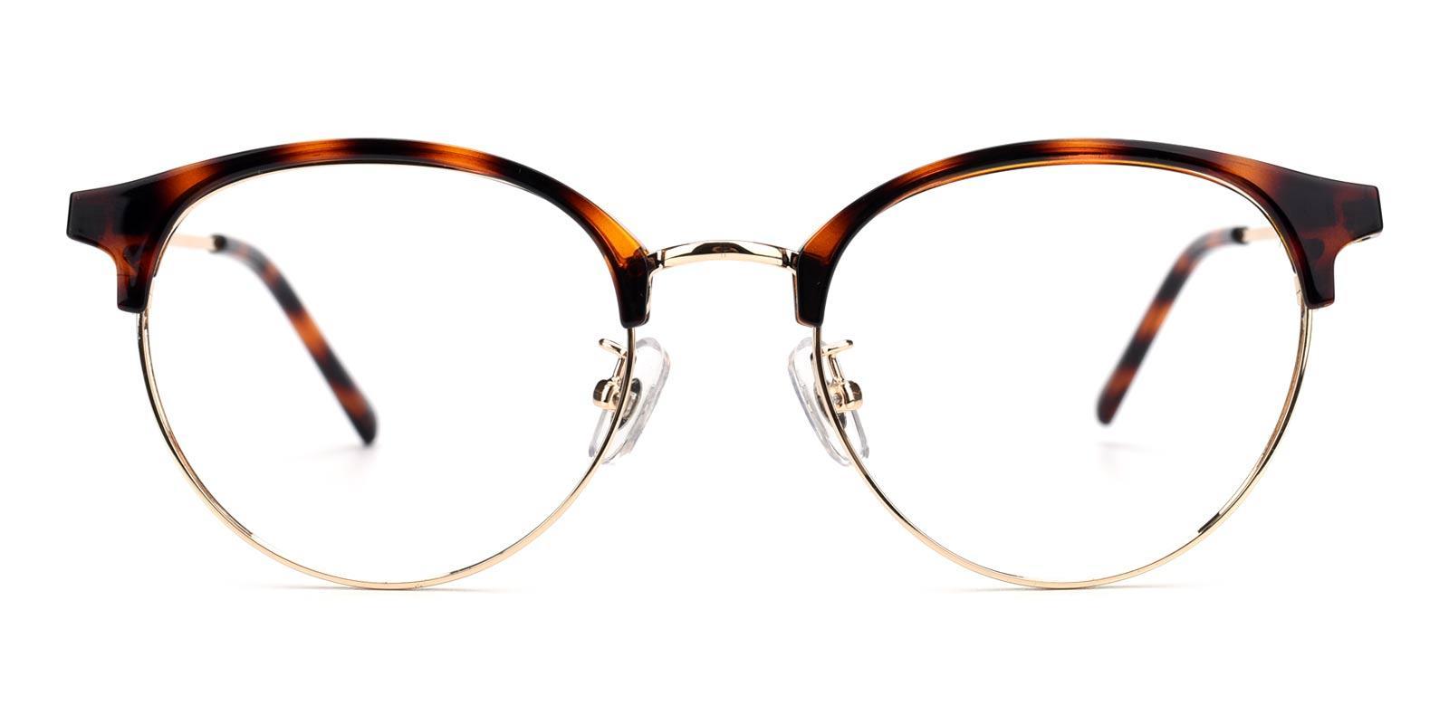 Gaze-Tortoise-Browline-Metal-Eyeglasses-detail