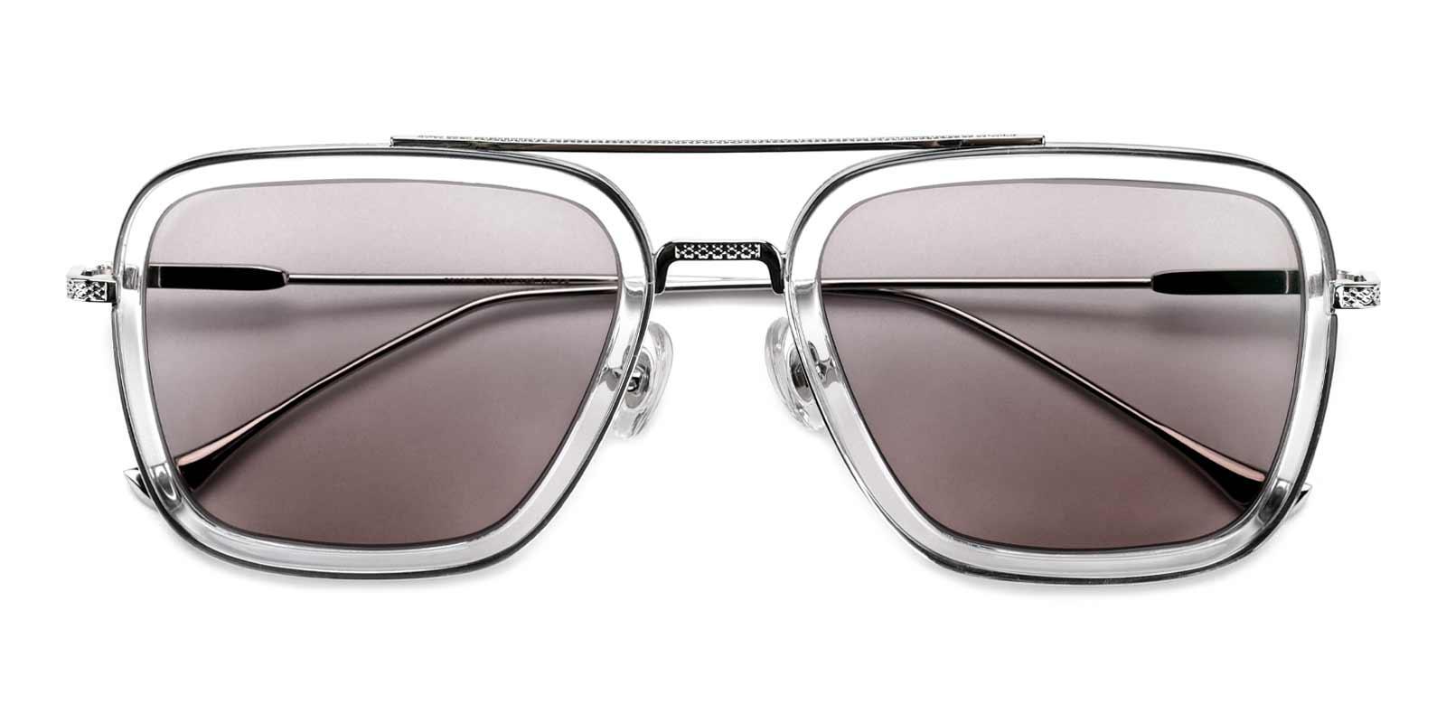 Space Traveler-Gray-Aviator-Plastic-Sunglasses-detail