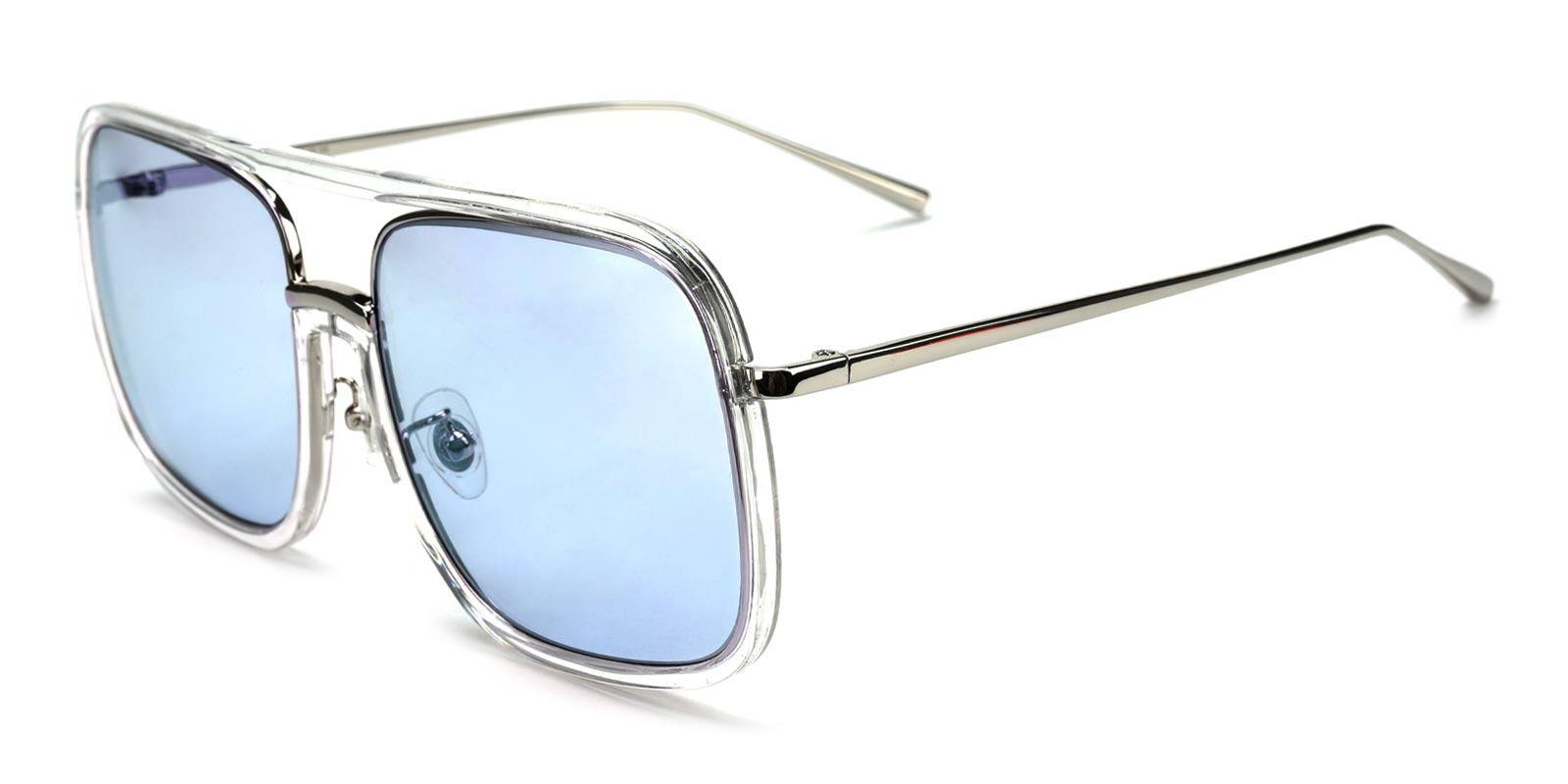 Out of Control-Blue-Aviator-Plastic-Sunglasses-detail