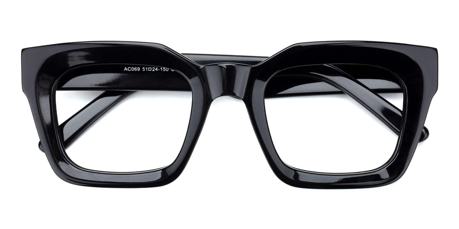 Esther-Black-Geometric-Acetate-Eyeglasses-detail