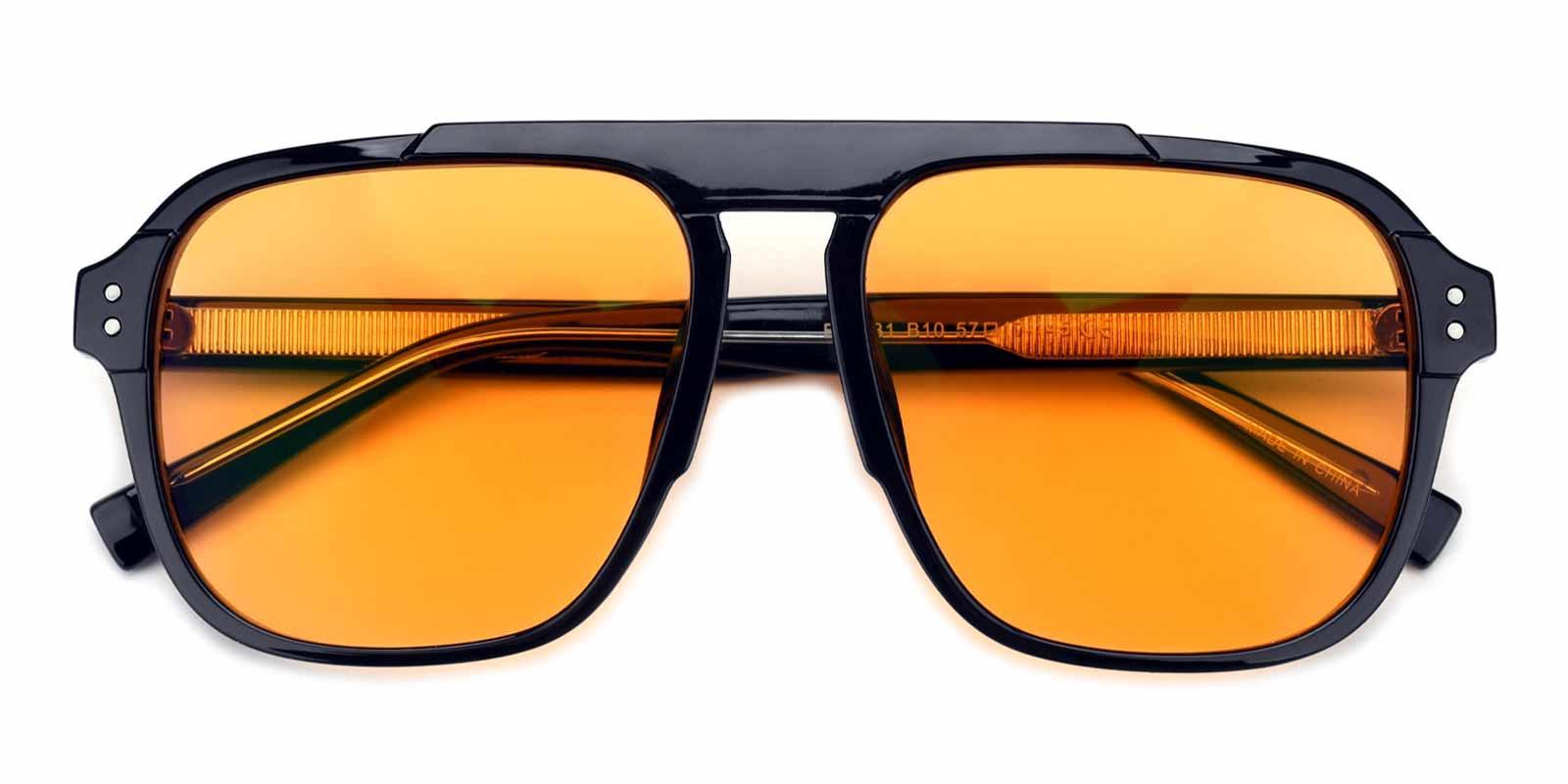 Floating Car-Yellow-Aviator-Acetate-Sunglasses-detail