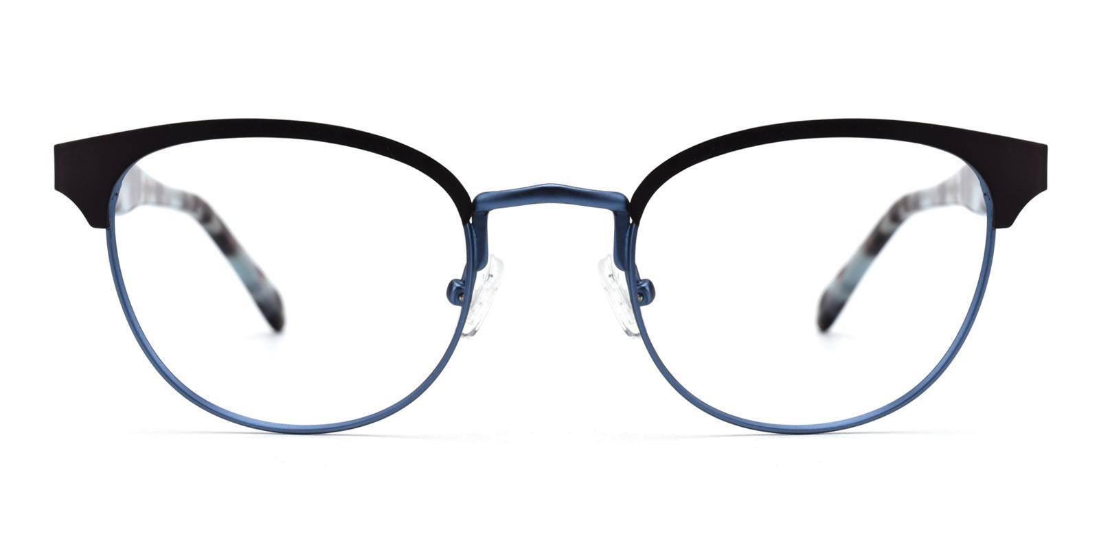 Noble-Blue-Browline-Metal-Eyeglasses-detail