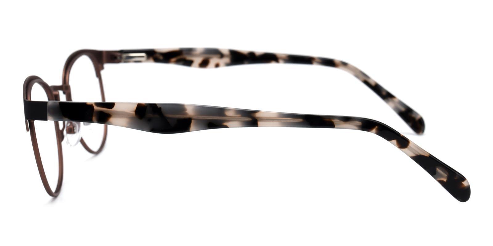 Noble-Brown-Browline-Metal-Eyeglasses-detail