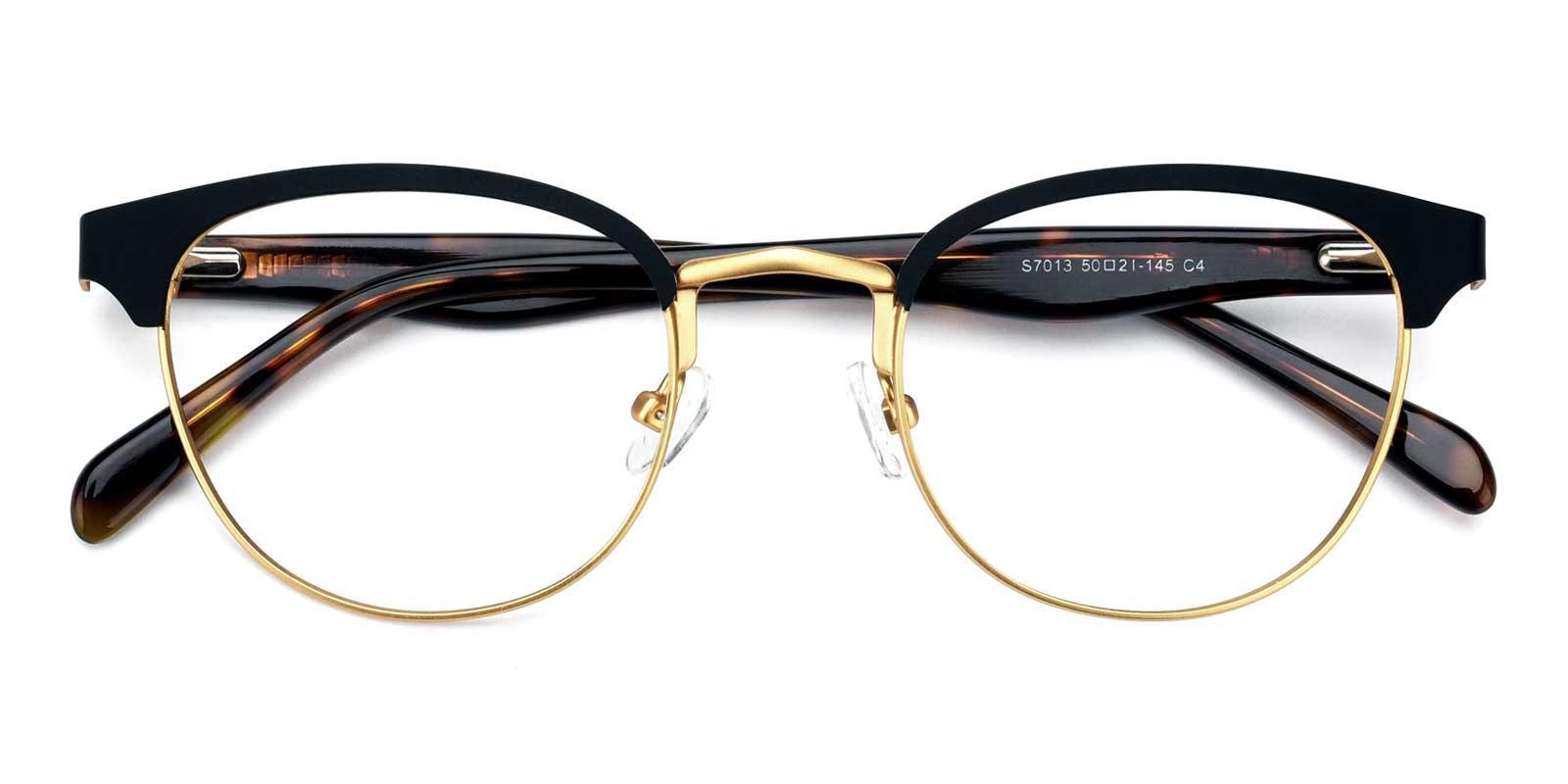 Noble-Gold-Browline-Metal-Eyeglasses-detail