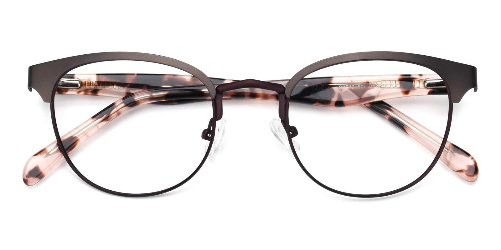 Noble-Purple-Browline-Metal-Eyeglasses-detail