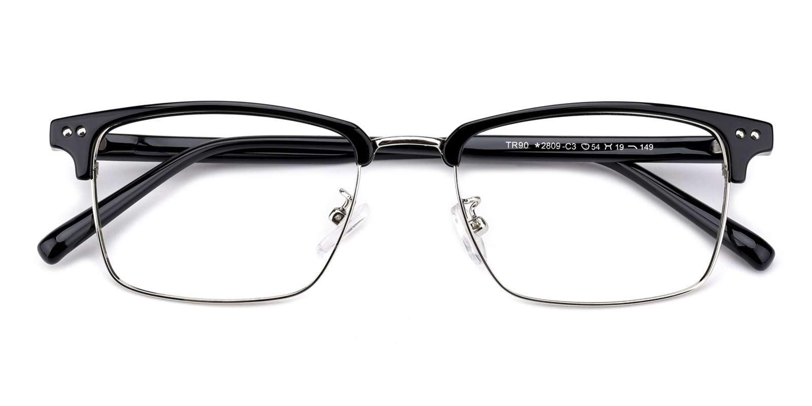 Caution-Black-Browline-TR-Eyeglasses-detail