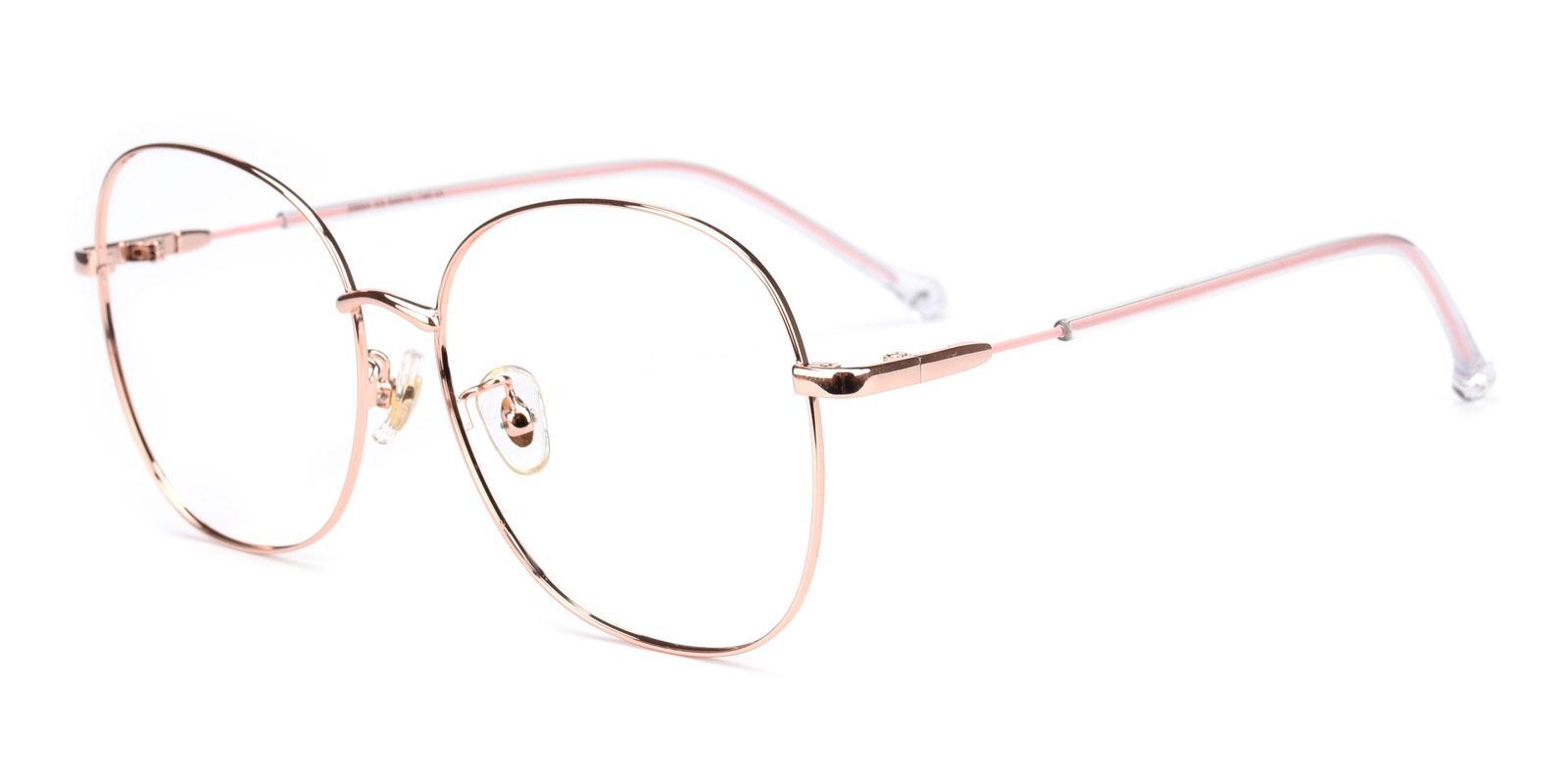 Goodbye-Pink-Round-Metal-Eyeglasses-detail