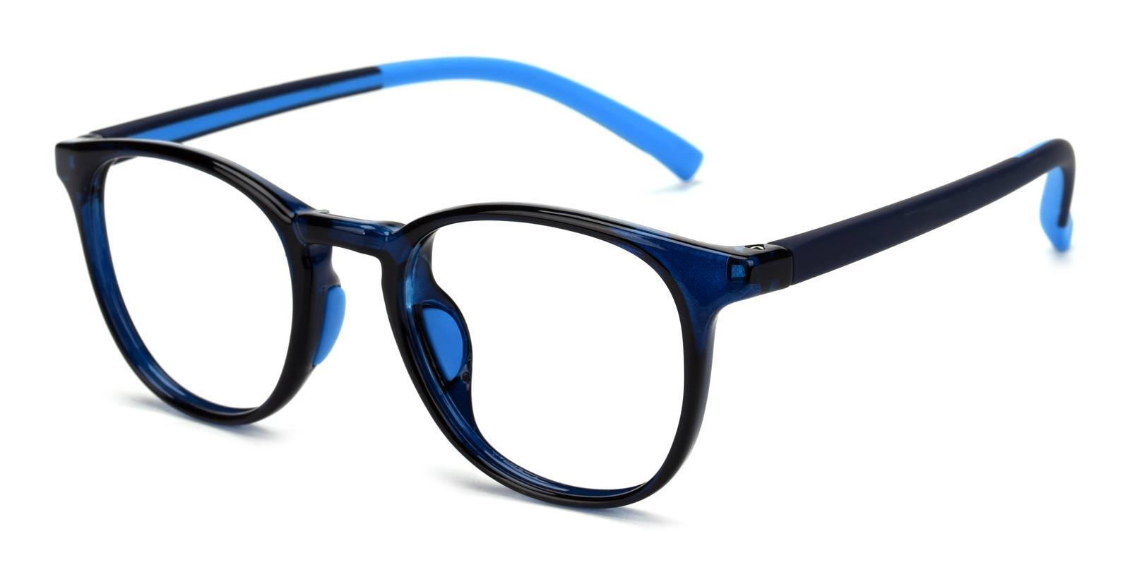 Elvis-Blue-Round-Plastic-Eyeglasses-detail