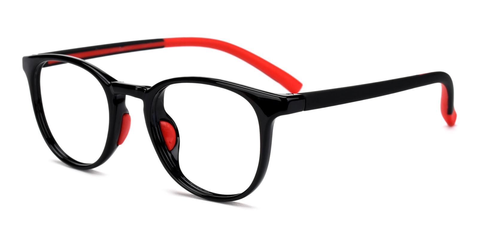 Elvis-Red-Round-Plastic-Eyeglasses-detail