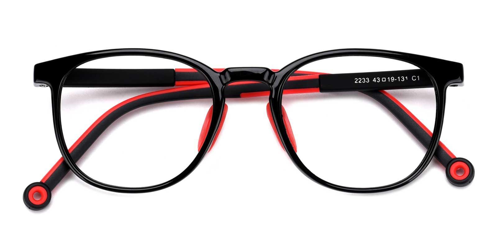 Jennifer-Red-Round-Plastic-Eyeglasses-detail