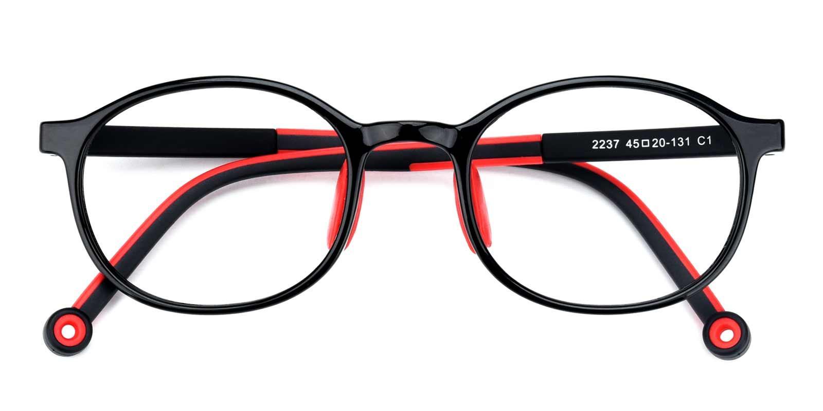 Glen-Black-Oval-Plastic-Eyeglasses-detail