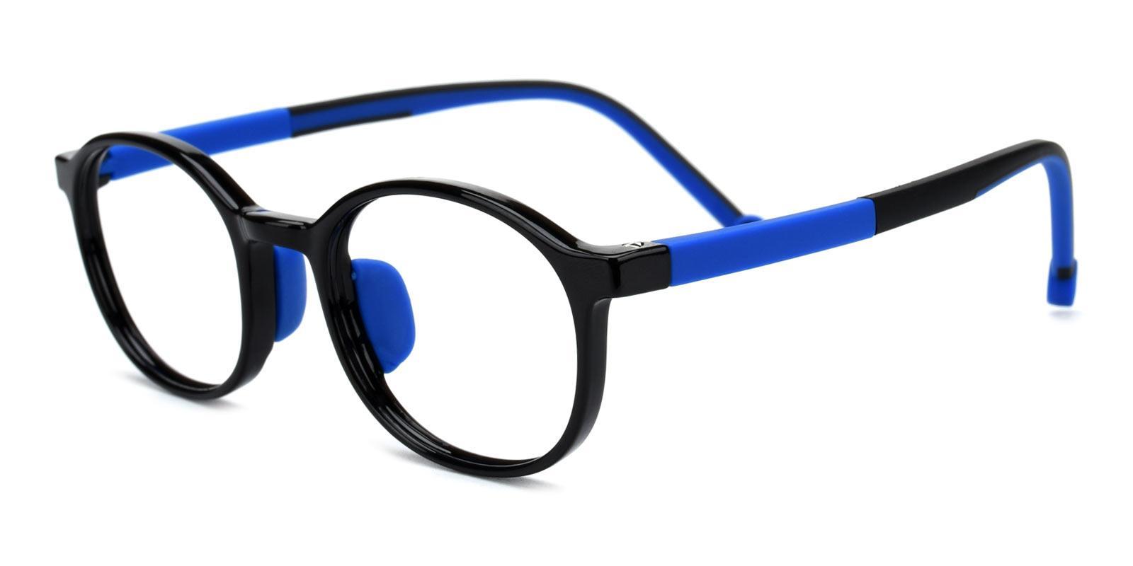 Glen-Blue-Oval-Plastic-Eyeglasses-detail