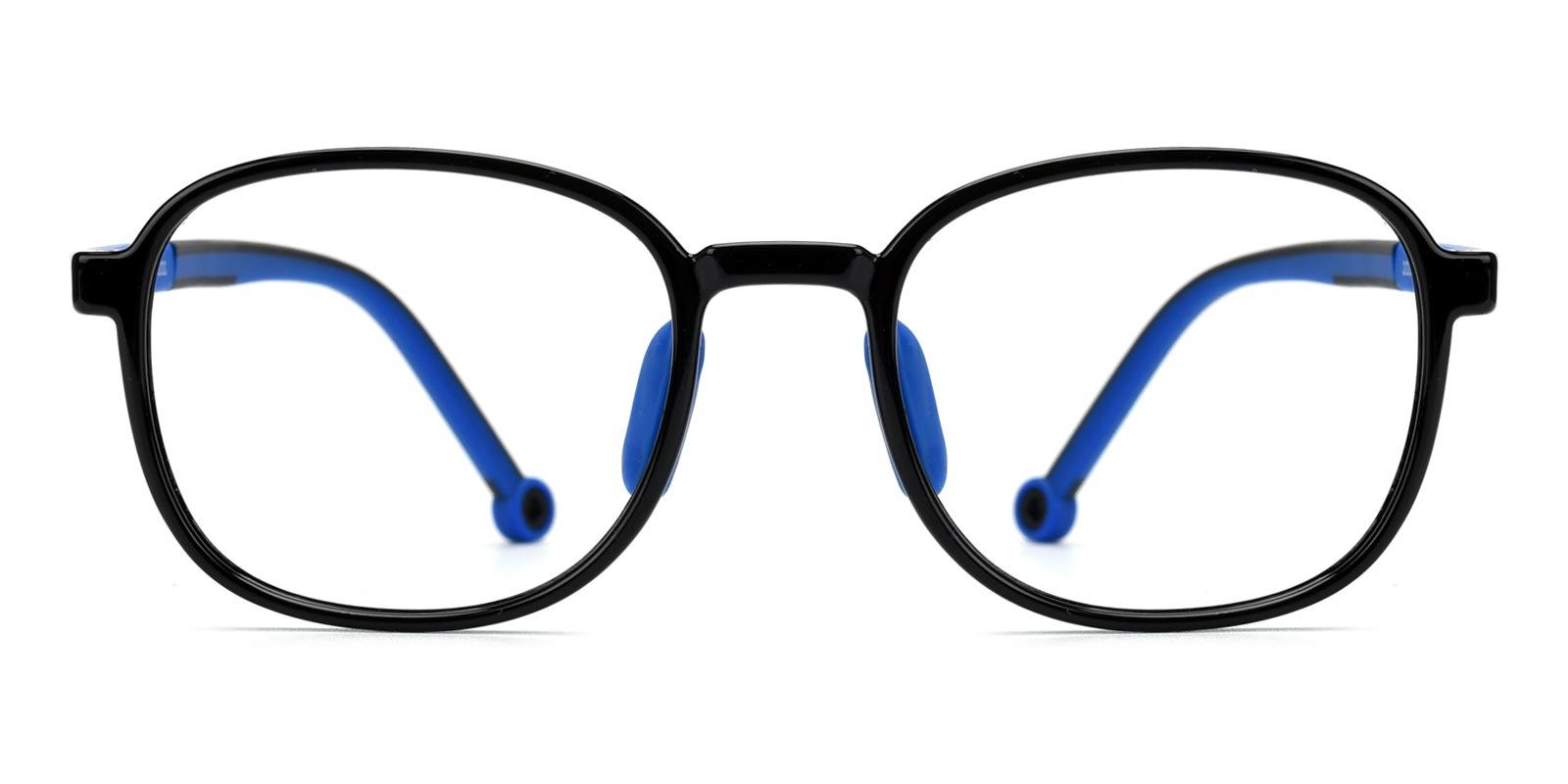 Warren-Black-Rectangle / Round-Plastic-Eyeglasses-detail