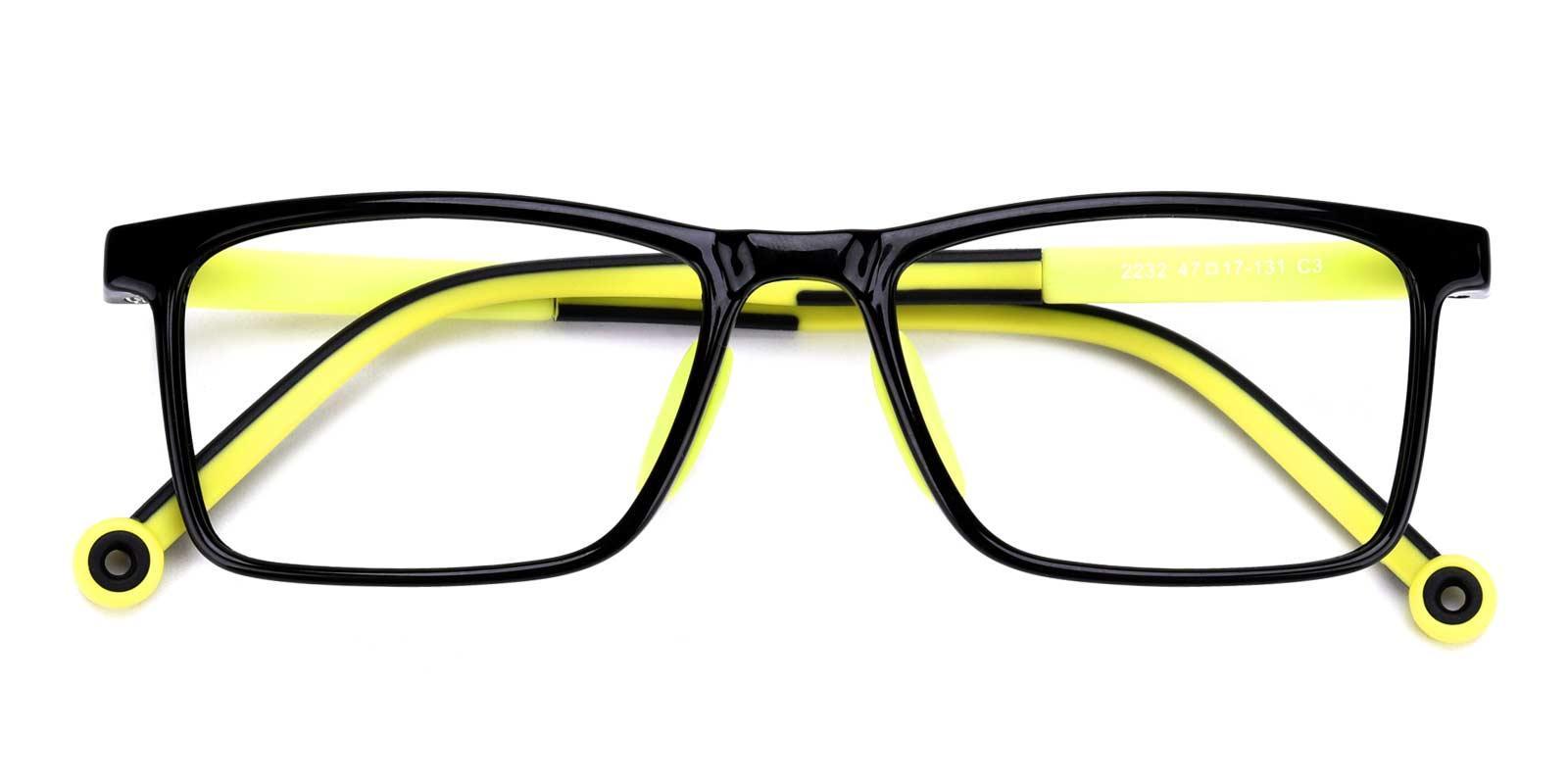 Lance-Yellow-Rectangle-Plastic-Eyeglasses-detail
