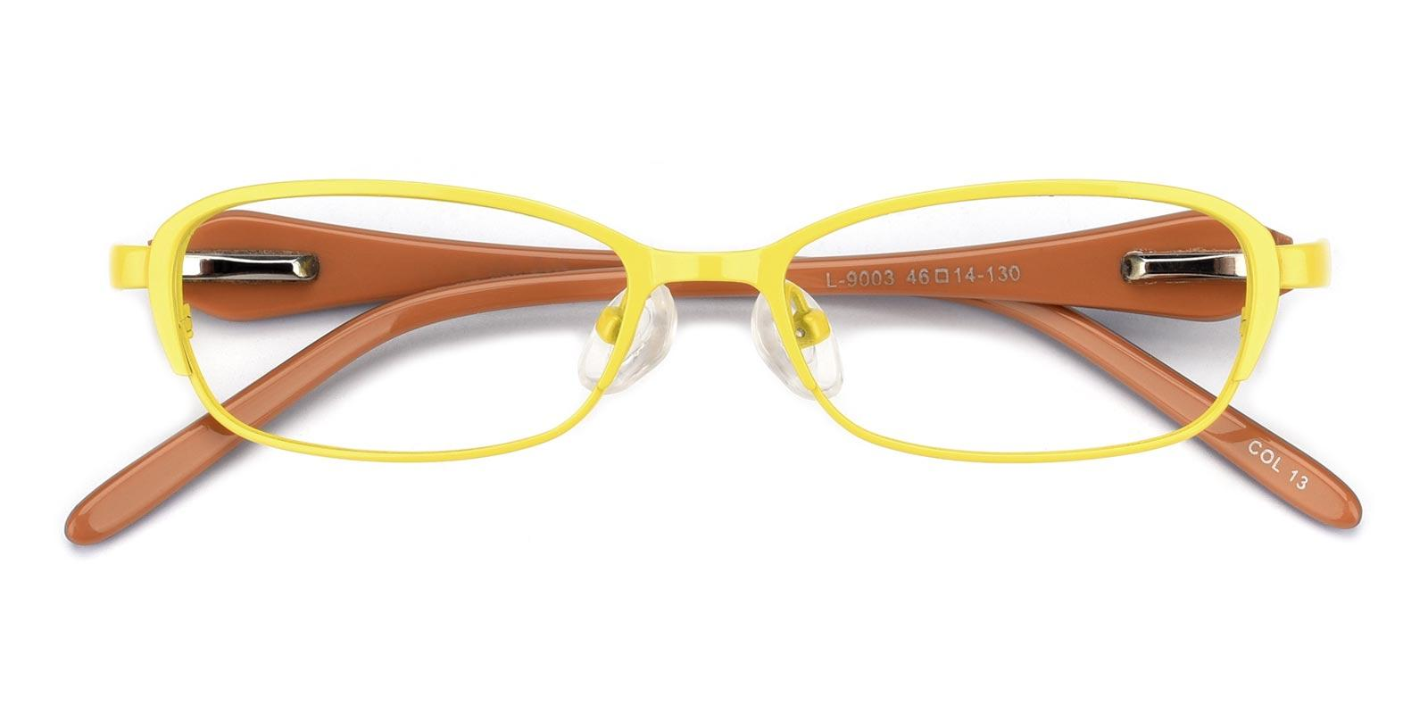 Lemon-Yellow-Rectangle-Metal-Eyeglasses-detail