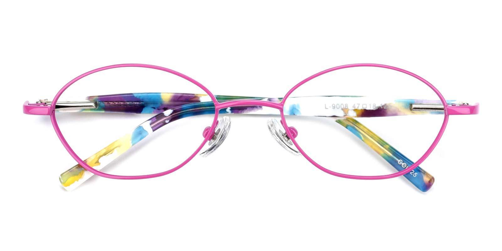 Lollipop-Pink-Oval-Metal-Eyeglasses-detail