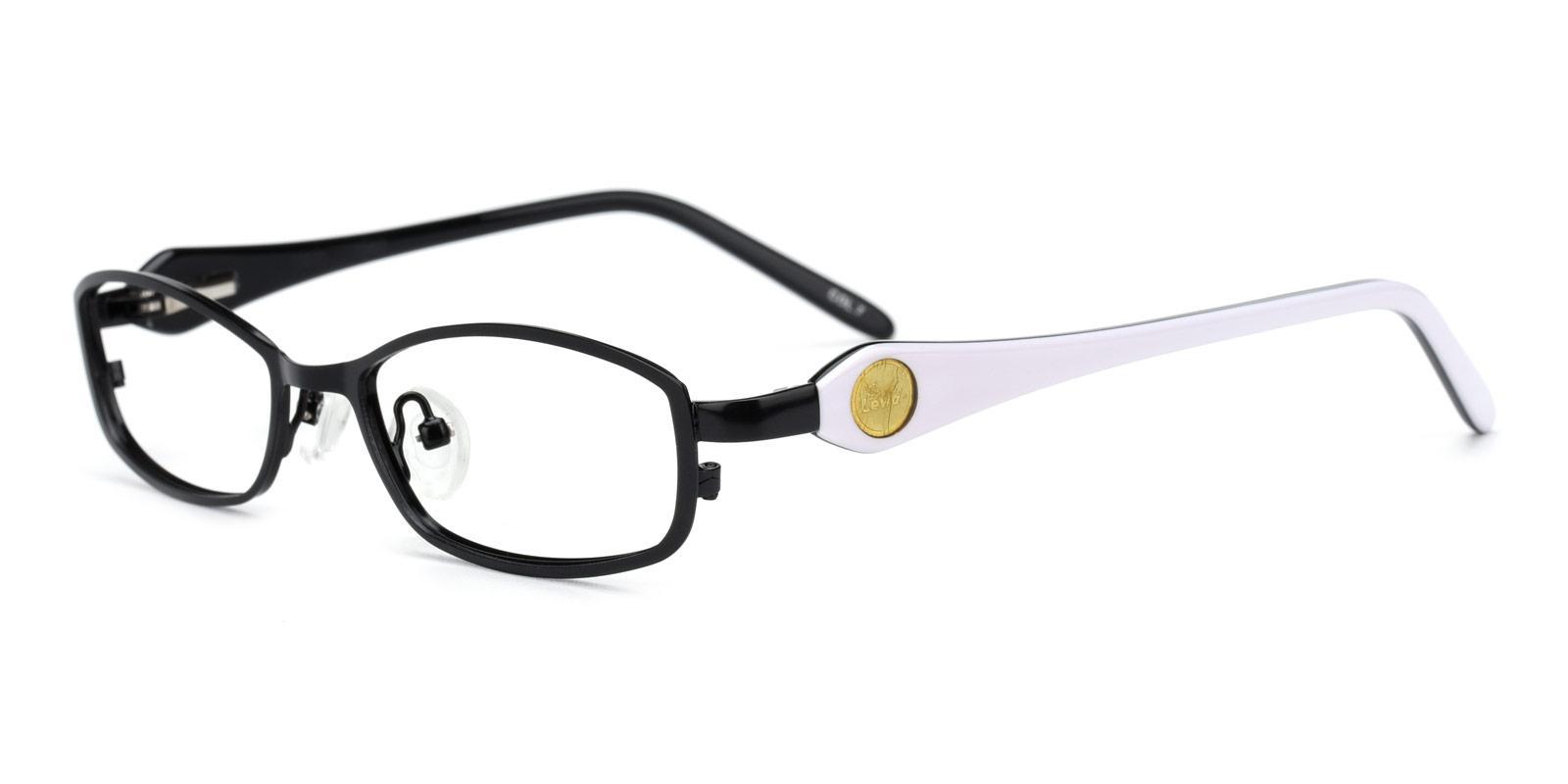 Astronaut-Black-Rectangle-Metal-Eyeglasses-detail