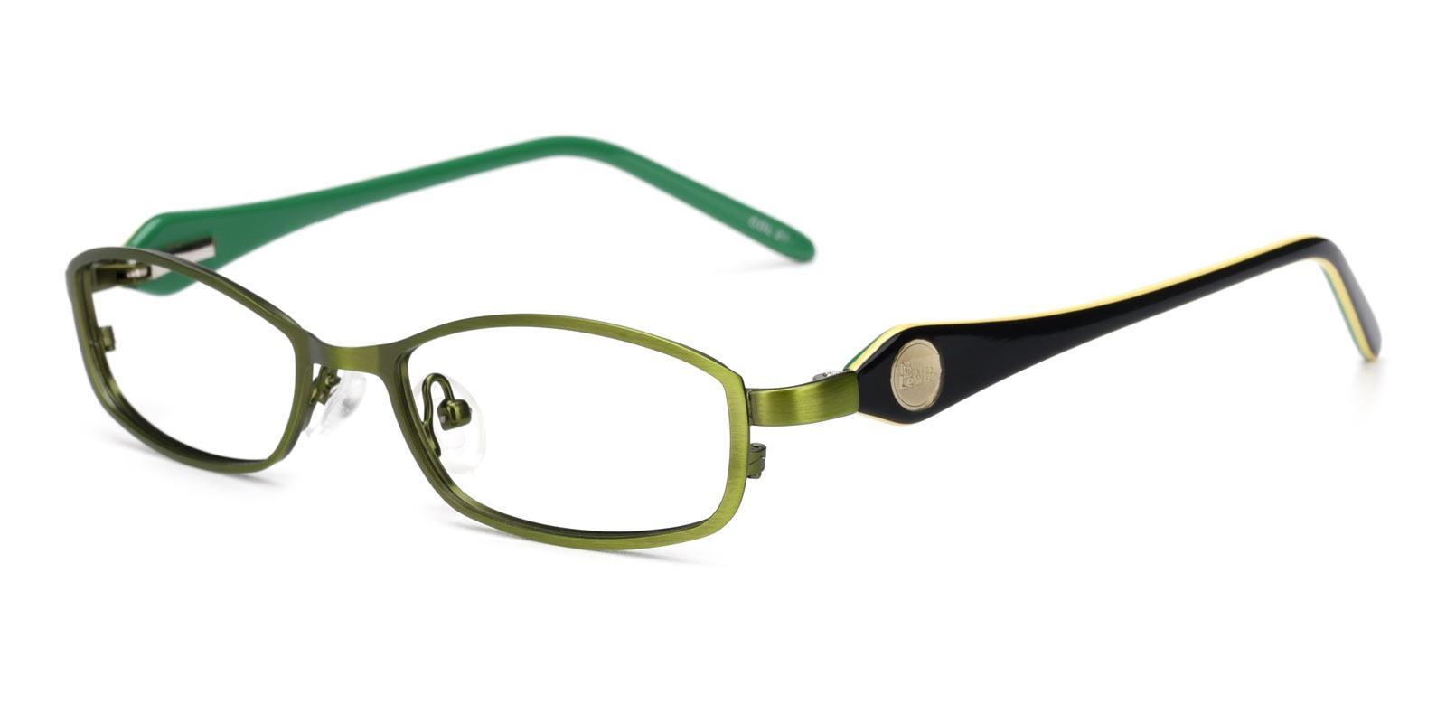 Astronaut-Green-Rectangle-Metal-Eyeglasses-detail