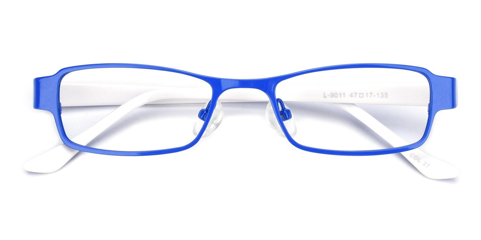 Lewa-Blue-Rectangle-Metal-Eyeglasses-detail