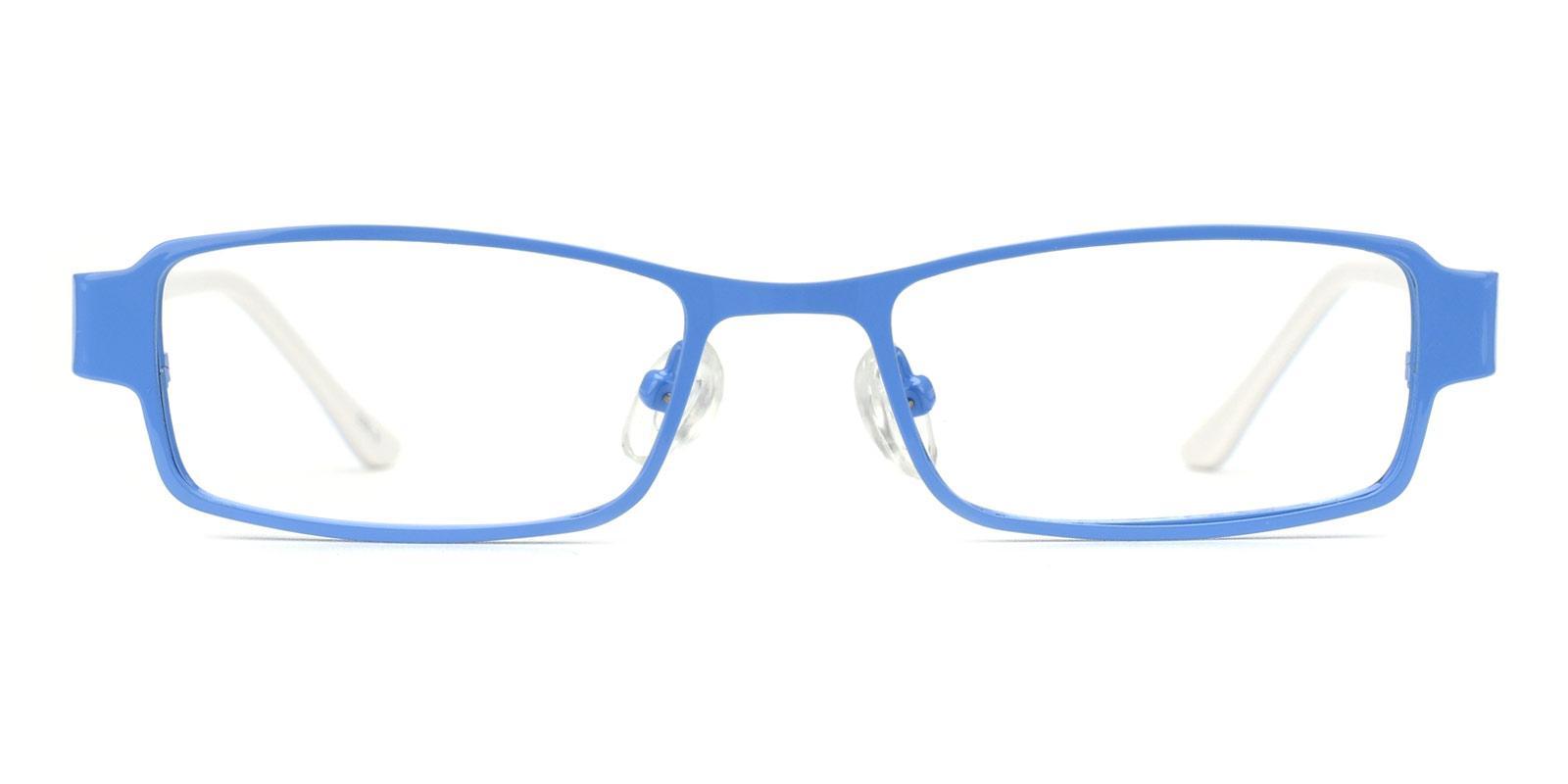 Musician-Blue-Rectangle-Metal-Eyeglasses-detail