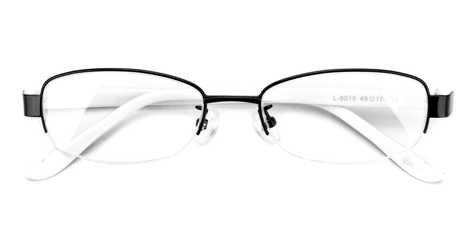 Clever-Black-Rectangle-Metal-Eyeglasses-detail