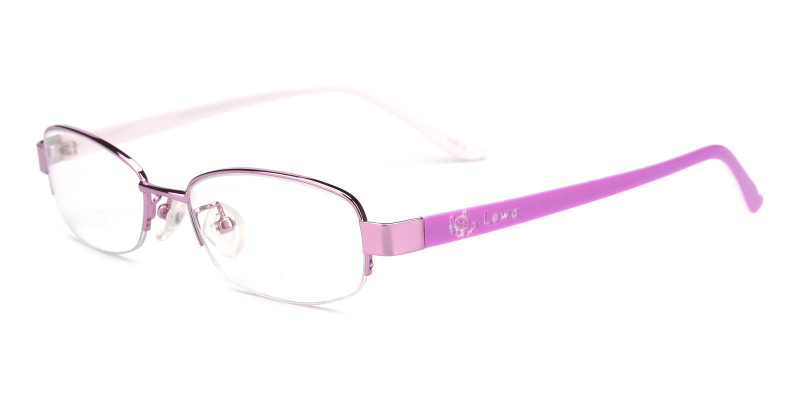 Clever-Pink-Rectangle-Metal-Eyeglasses-detail