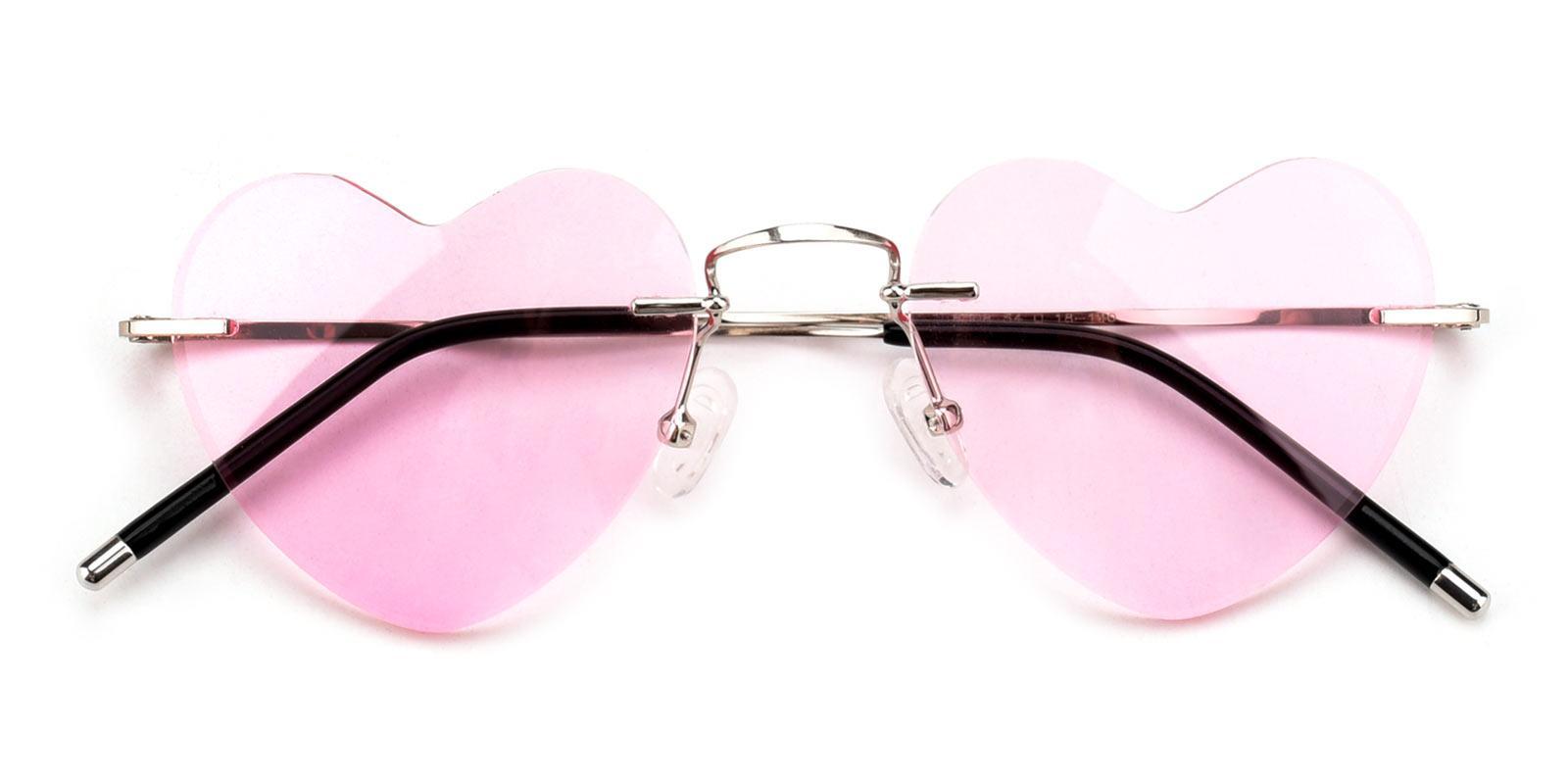 SweetLove-Pink-Geometric-Metal-Eyeglasses-detail