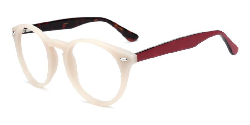 Silentmovie-White-Eyeglasses