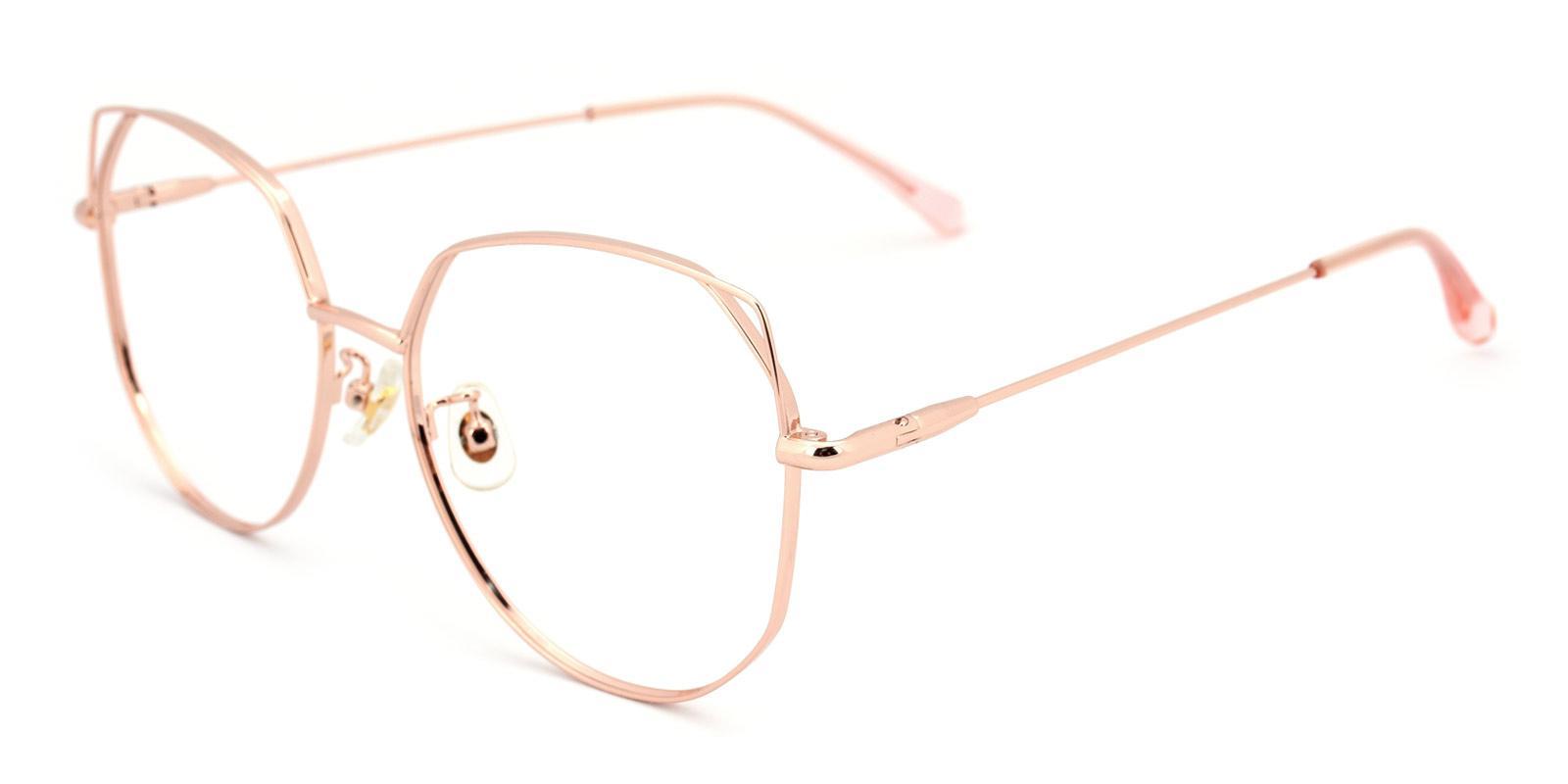 Pluto-Pink-Cat-Metal-Eyeglasses-detail