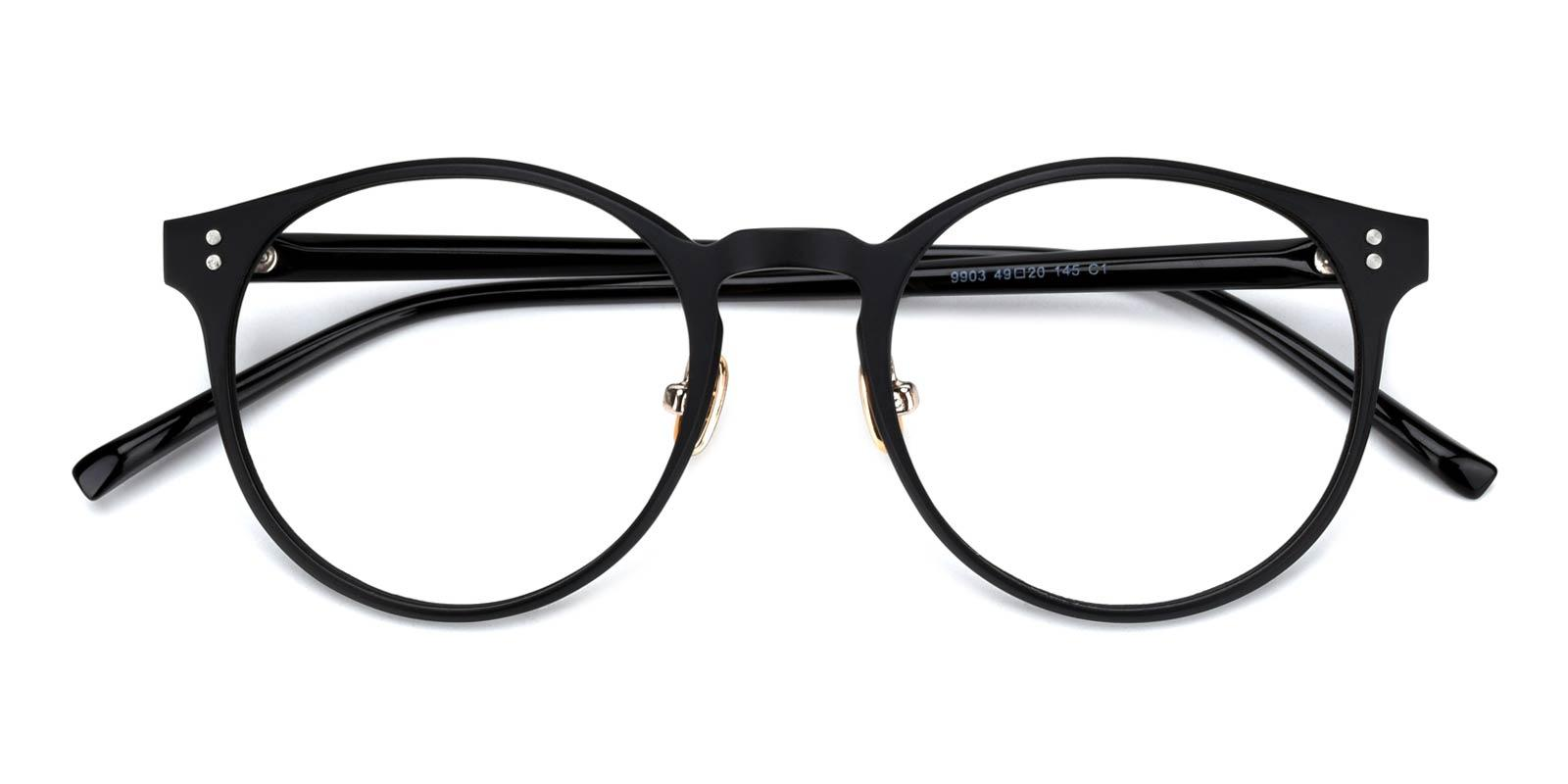 Bonfire-Black-Round-TR-Eyeglasses-detail