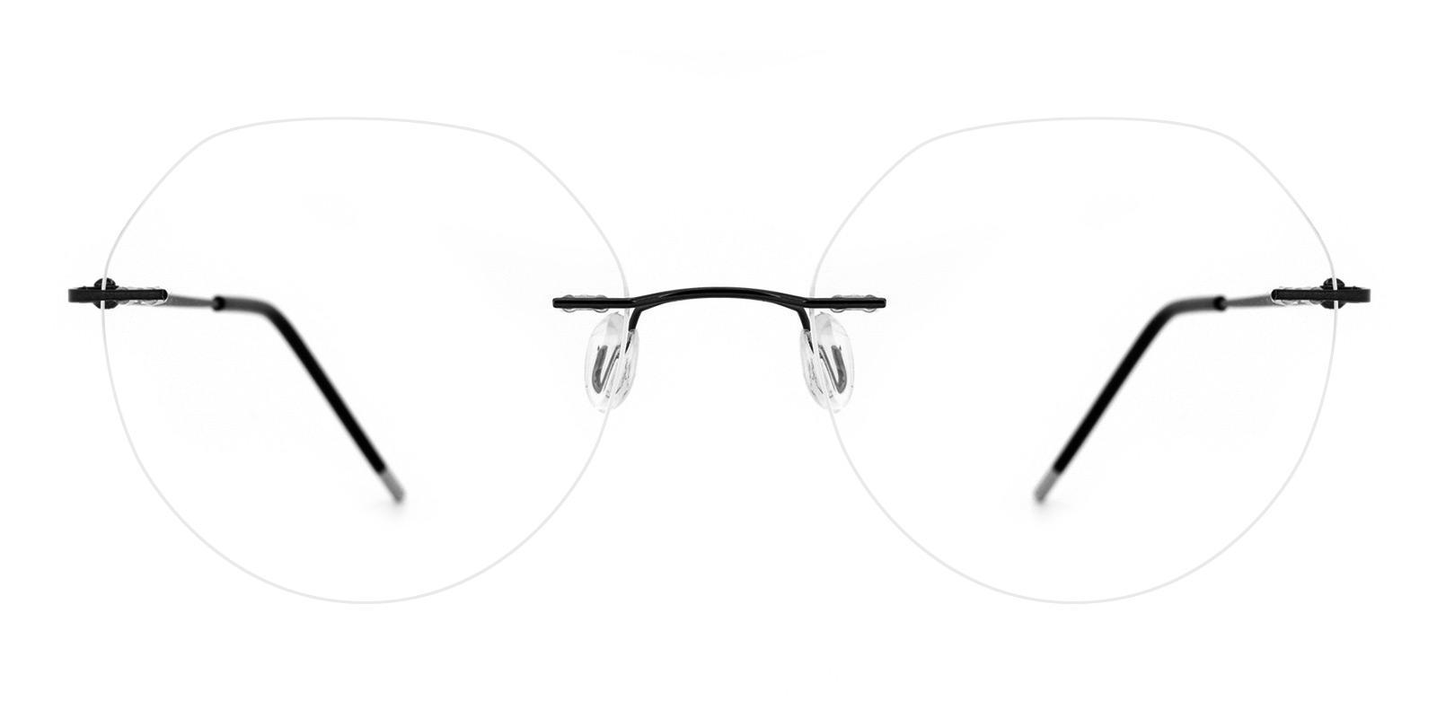 Invisible-Black-Round-Metal-Eyeglasses-detail