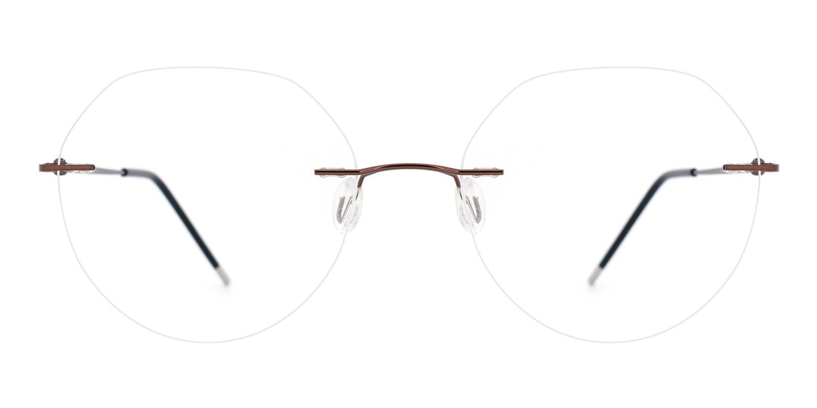 Invisible-Brown-Geometric-Metal-Eyeglasses-detail