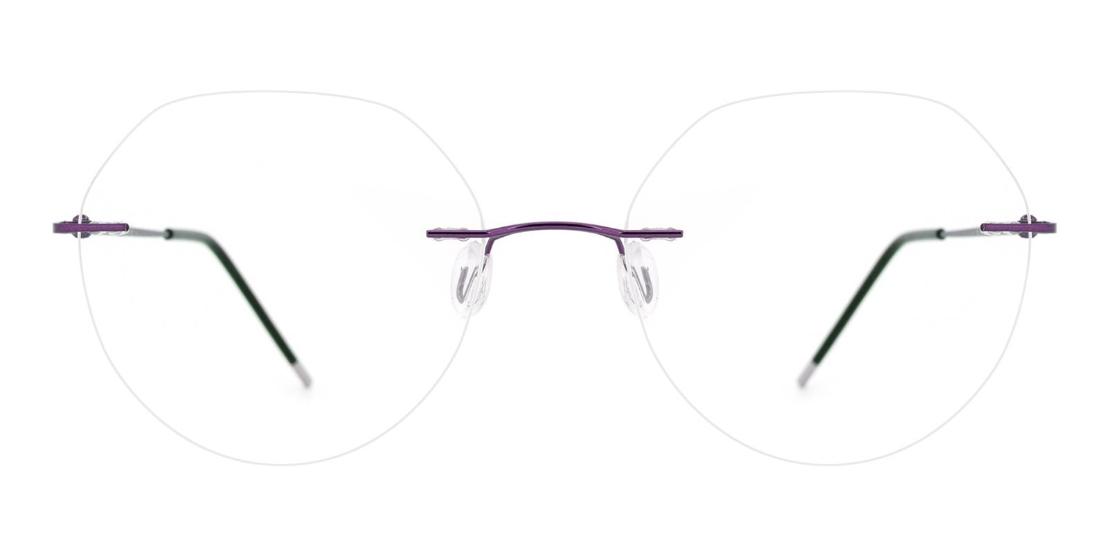 Invisible-Purple-Round-Metal-Eyeglasses-detail