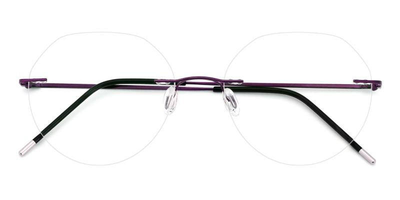 Invisible-Purple-Eyeglasses