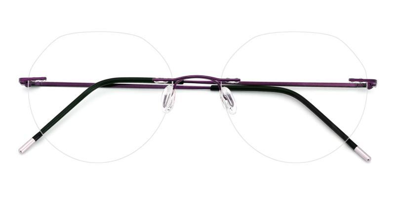 Invisible-Purple-Eyeglasses