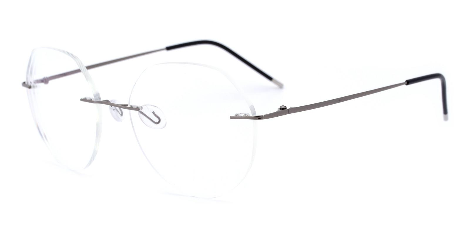 Invisible-Silver-Round-Metal-Eyeglasses-detail
