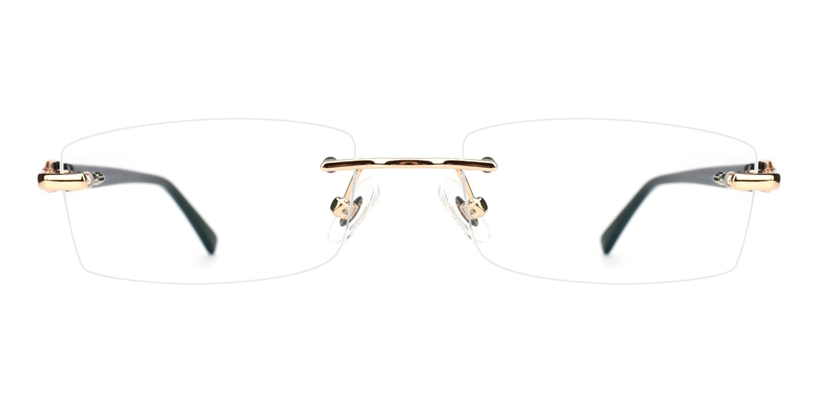 Cement-Gold-Rectangle-Acetate / Metal-Eyeglasses-detail